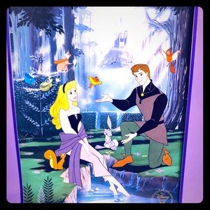 SLEEPING BEAUTY VINTAGE LITHOGRAPH DISNEY DECORE